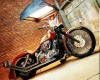 Promo Custom Softail Red Chopper Full Pa